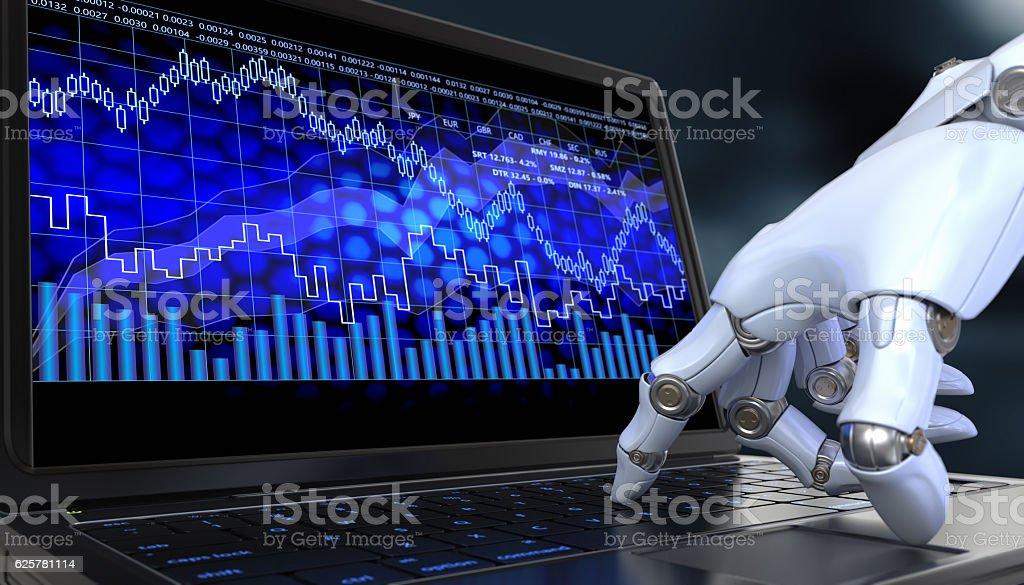 Exchange trade robot stock photo