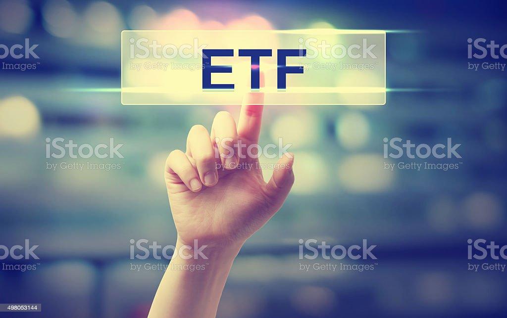 ETF - Exchange Traded Fund concept stock photo
