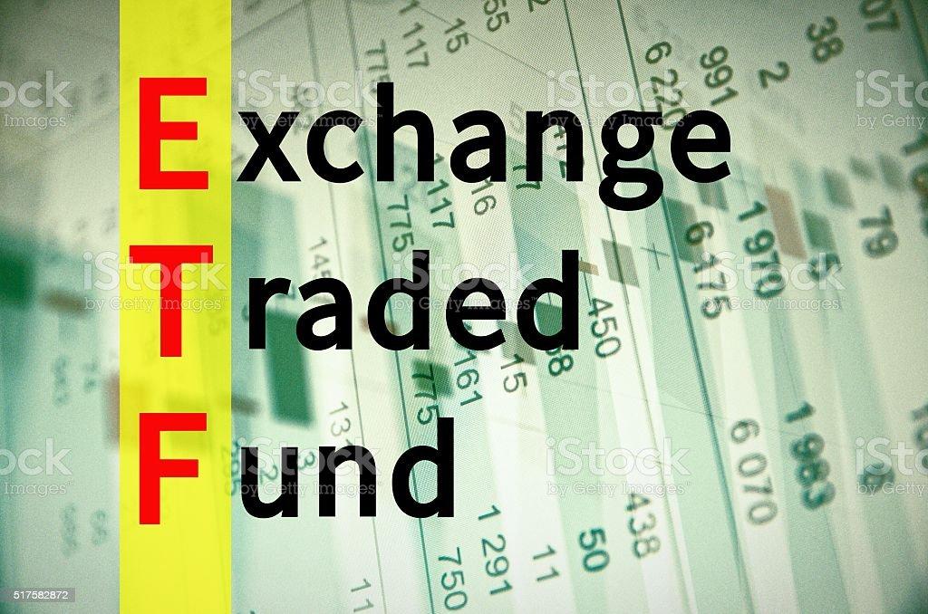 Exchange-traded fund stock photo