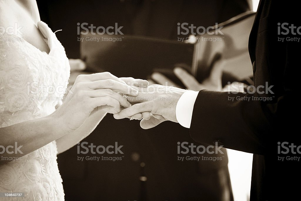 Exchanging Rings royalty-free stock photo