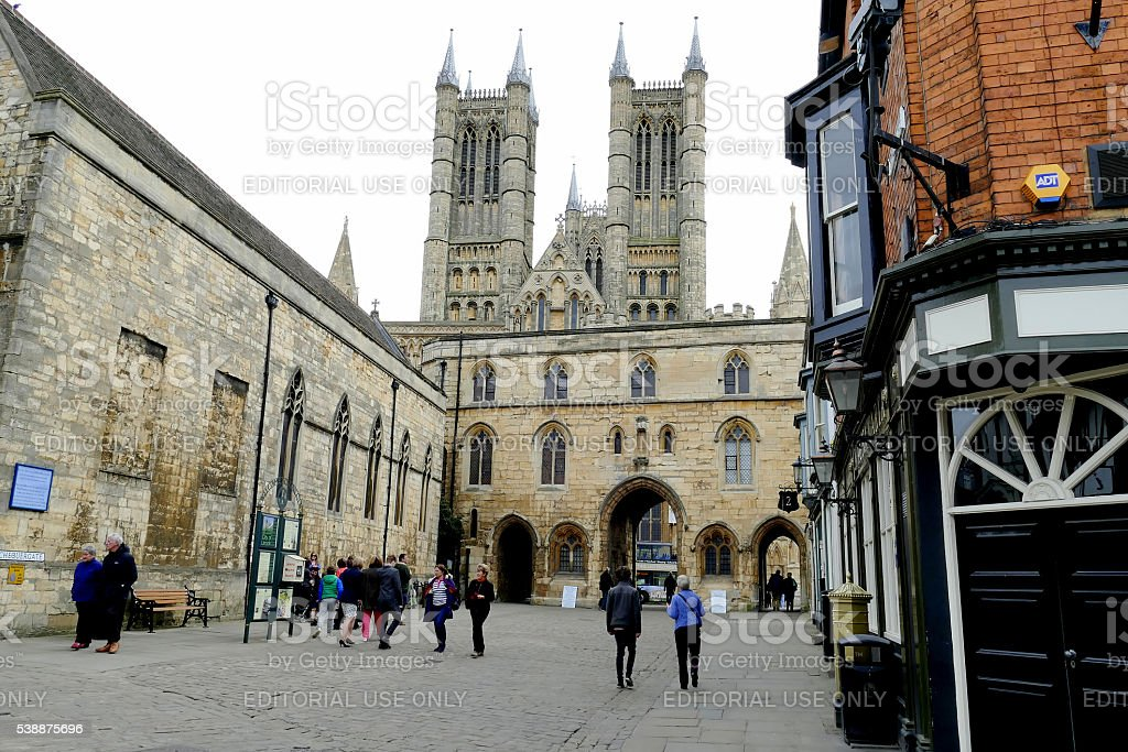 Exchequer Gate, Lincoln. stock photo