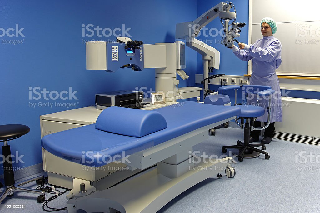 Excimer laser for optometry royalty-free stock photo