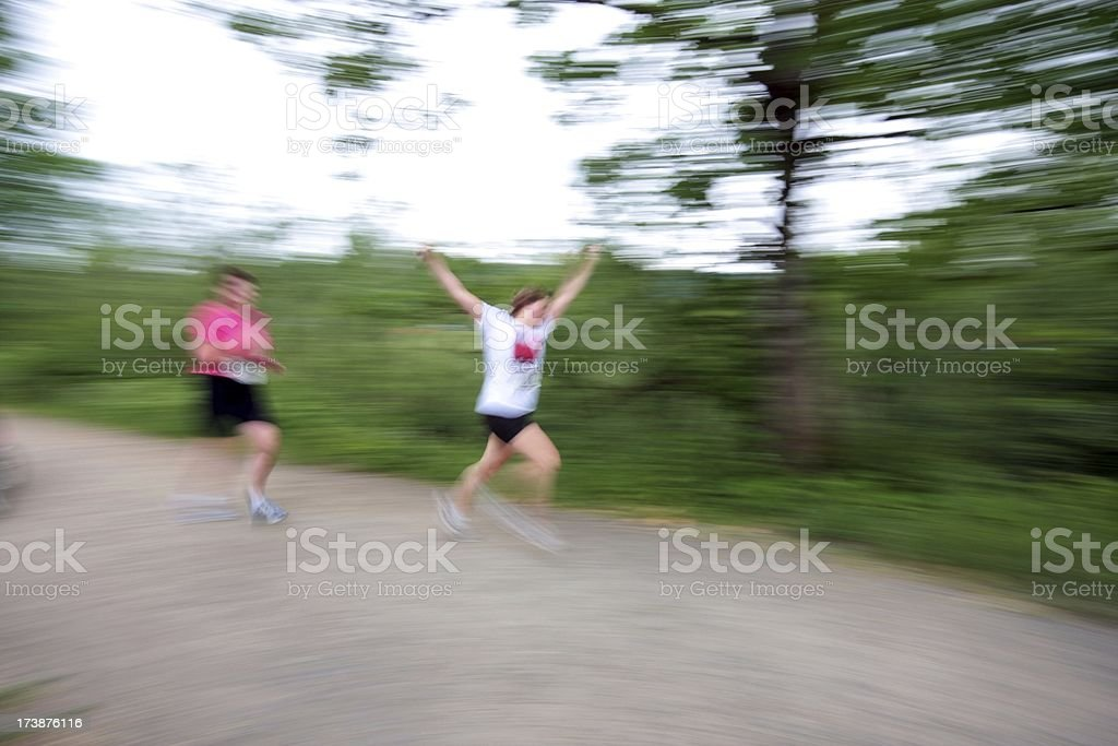 Excited 5K Runners royalty-free stock photo