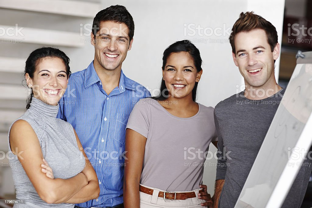 Excited about their new enterprise royalty-free stock photo