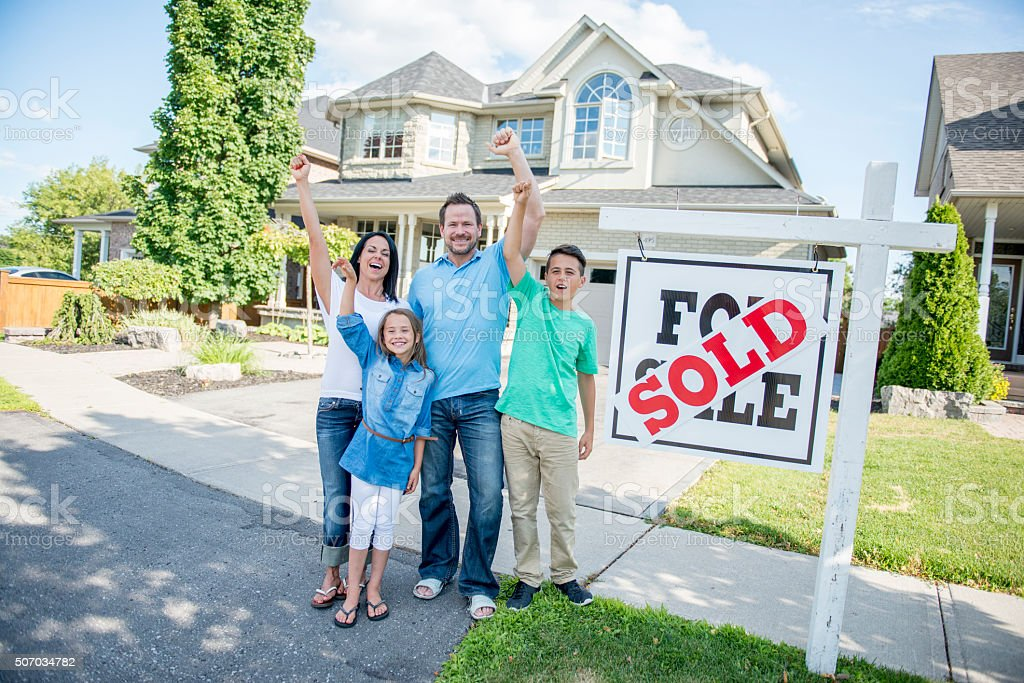 Excited About Their New Home stock photo
