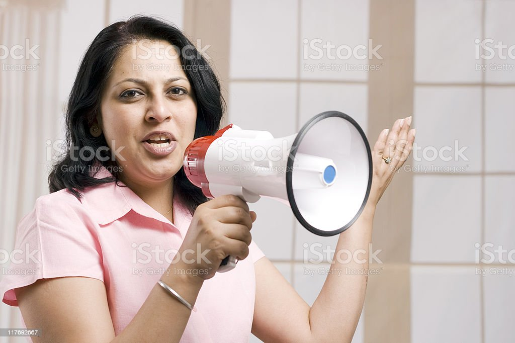 Excited Announcer royalty-free stock photo