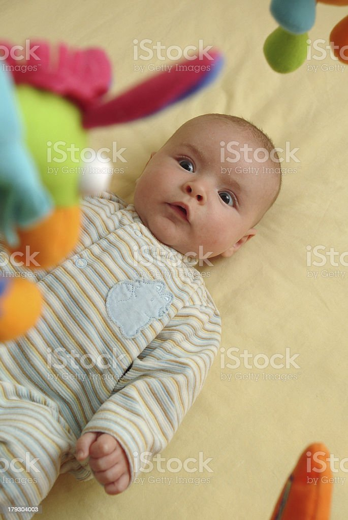 Excited Baby stock photo