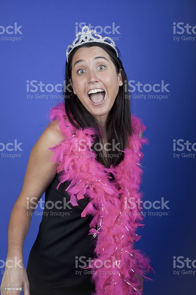 excited bachelorette stock photo