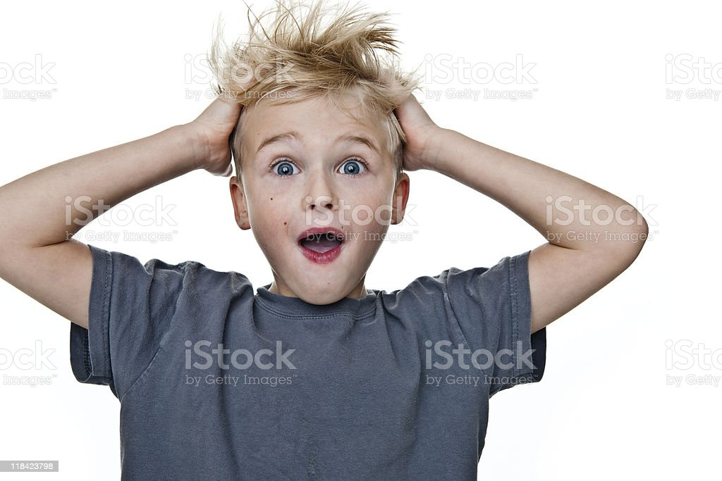 Excited boy royalty-free stock photo