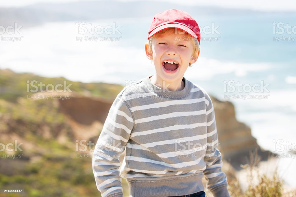 excited boy stock photo
