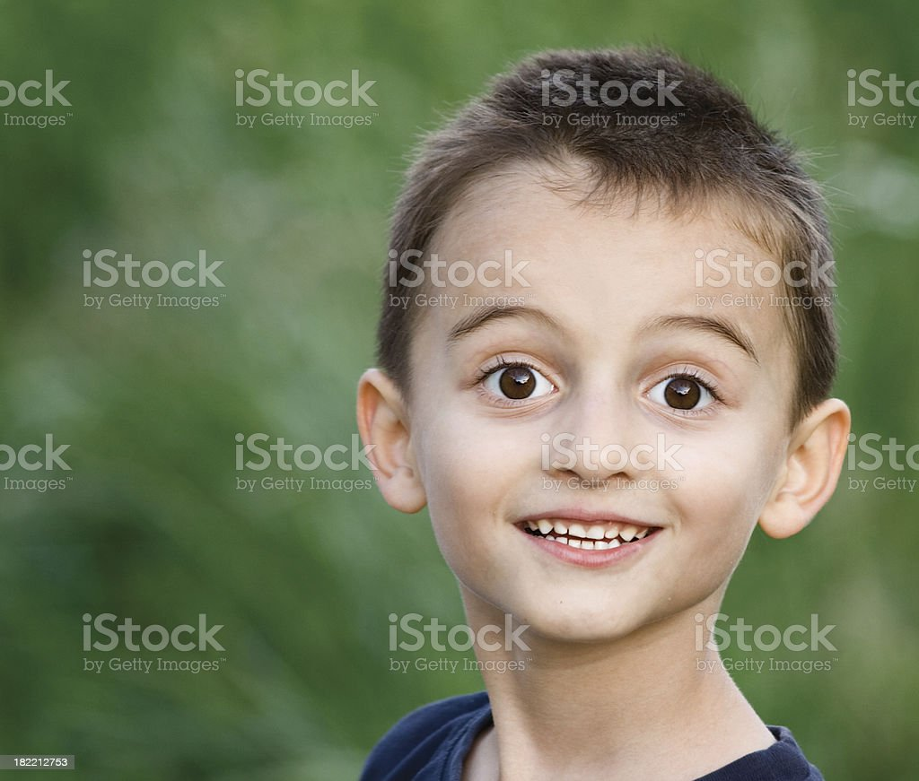 Excited boy with smile royalty-free stock photo