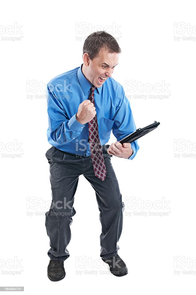 Excited business man makes the sale royalty-free stock photo