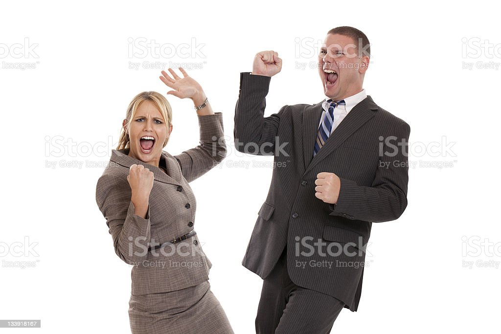 Excited Business People royalty-free stock photo