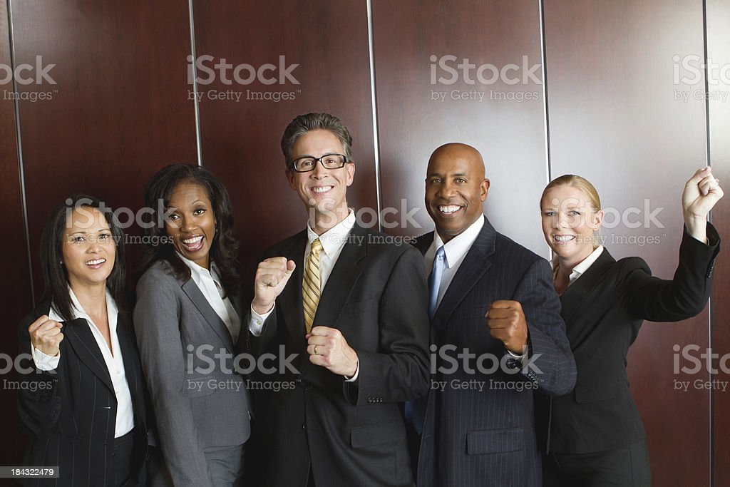 Excited Business Team royalty-free stock photo