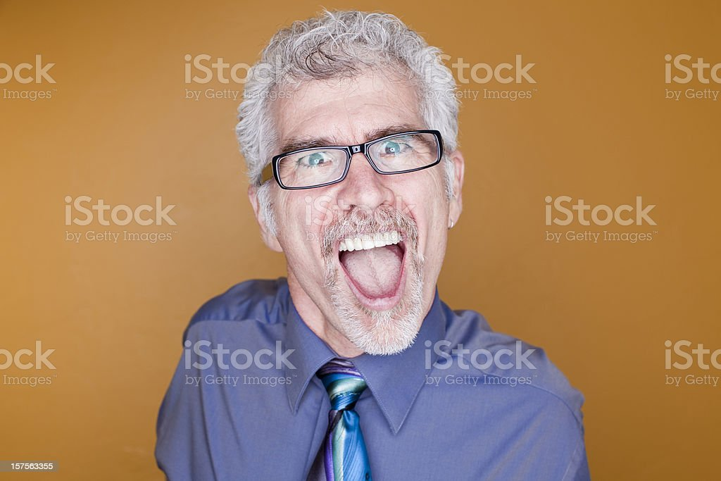 Excited businessman royalty-free stock photo