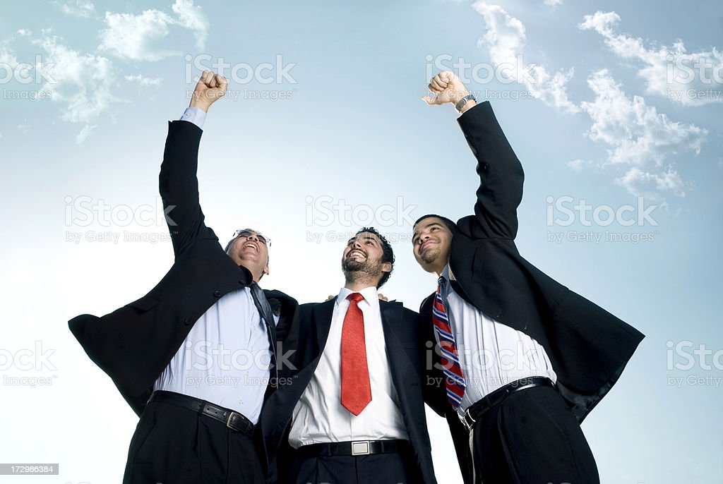 Excited coworkers royalty-free stock photo
