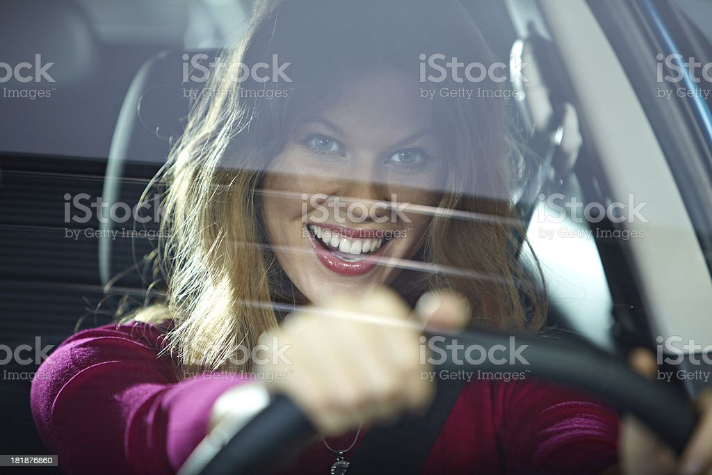 Excited driver royalty-free stock photo