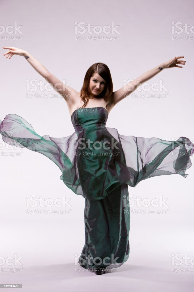 Excited Elegance royalty-free stock photo