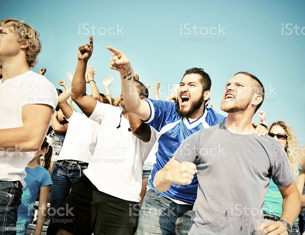 Excited fans. royalty-free stock photo