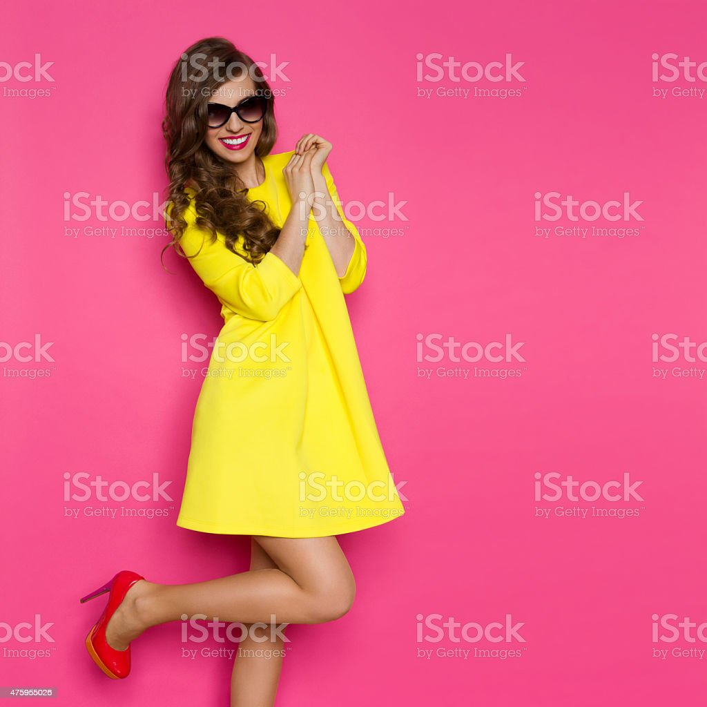 Excited Fashion Girl stock photo