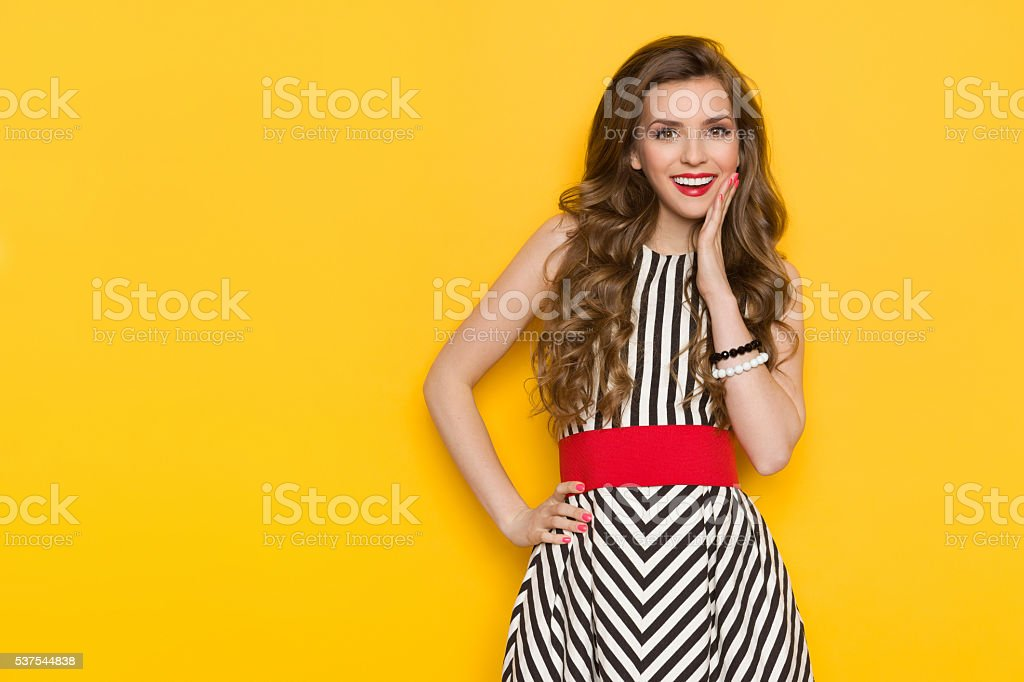 Excited Fashion Model stock photo