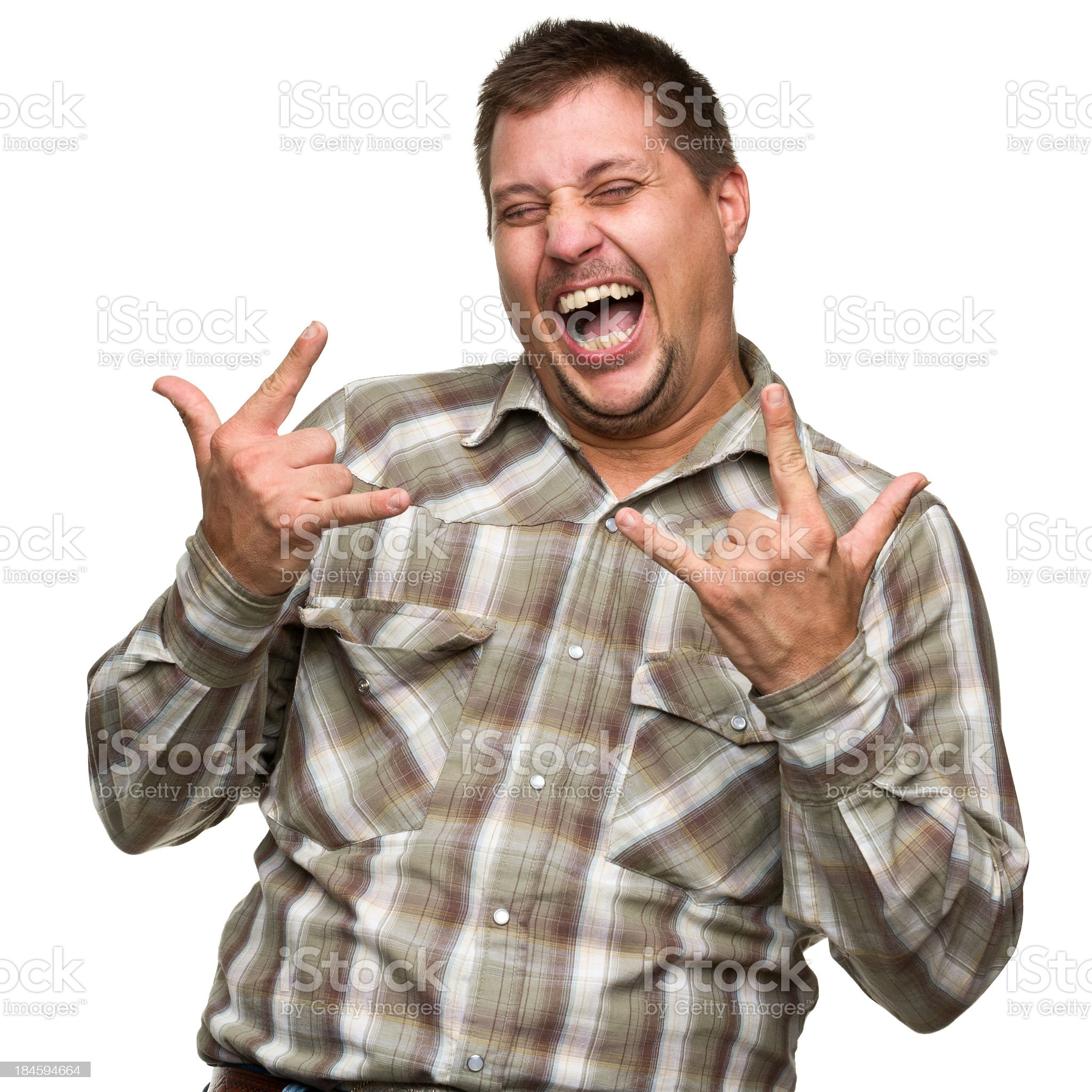 Excited Gesturing Man royalty-free stock photo
