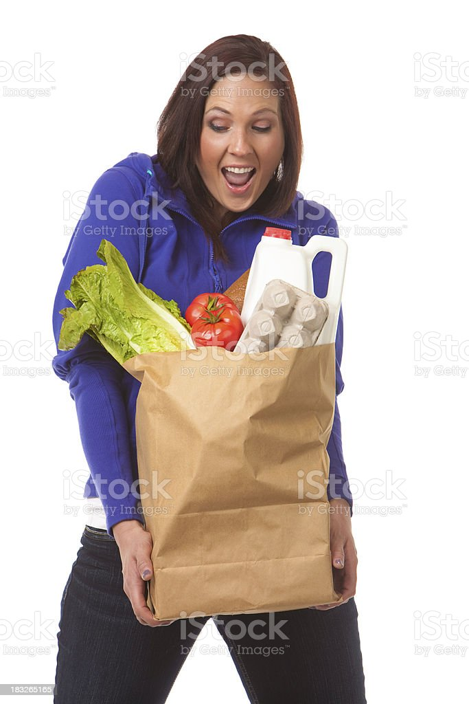 Excited Grocery Shoppin royalty-free stock photo