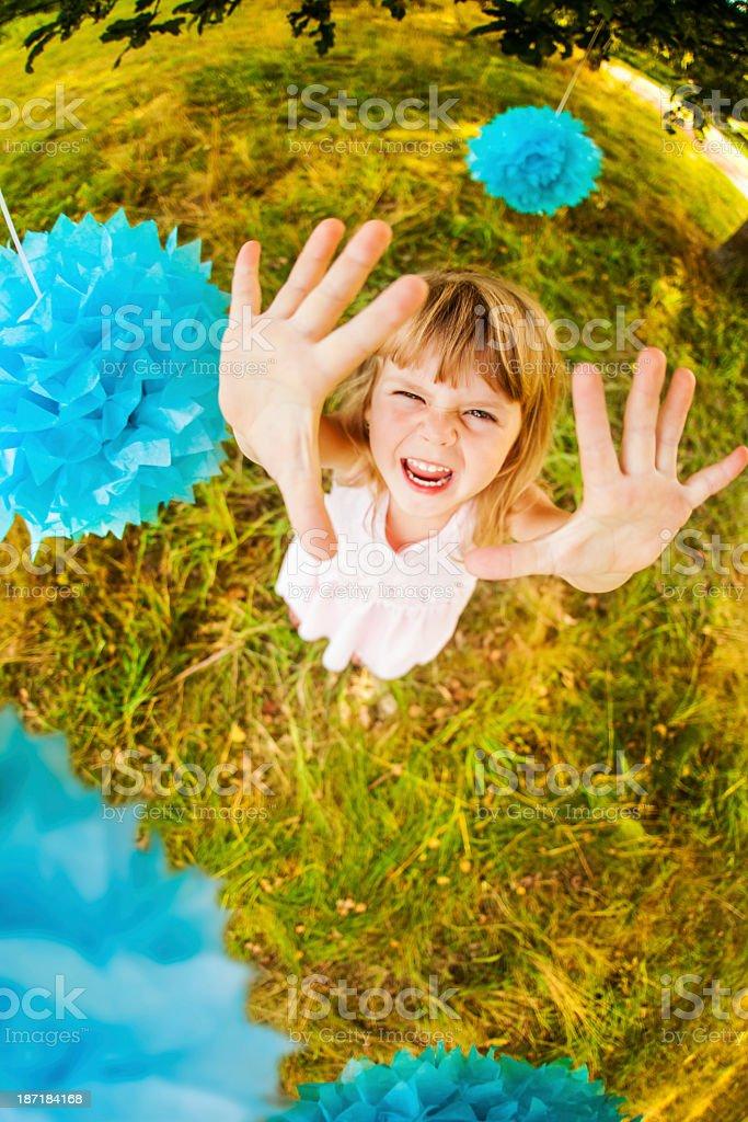 Excited Happy Girl stock photo