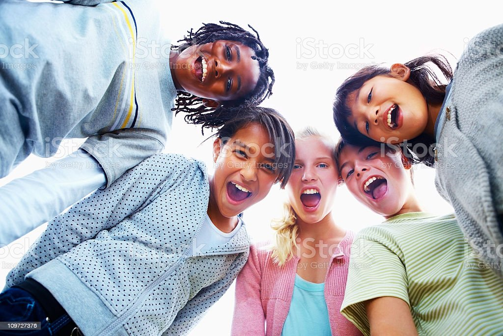 Excited kids having fun royalty-free stock photo