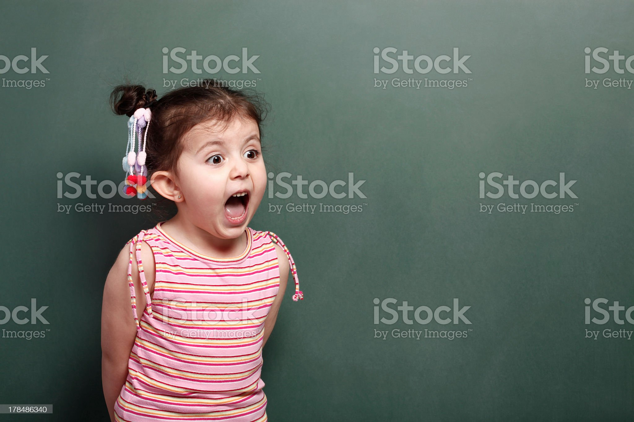 Excited Little Girl royalty-free stock photo