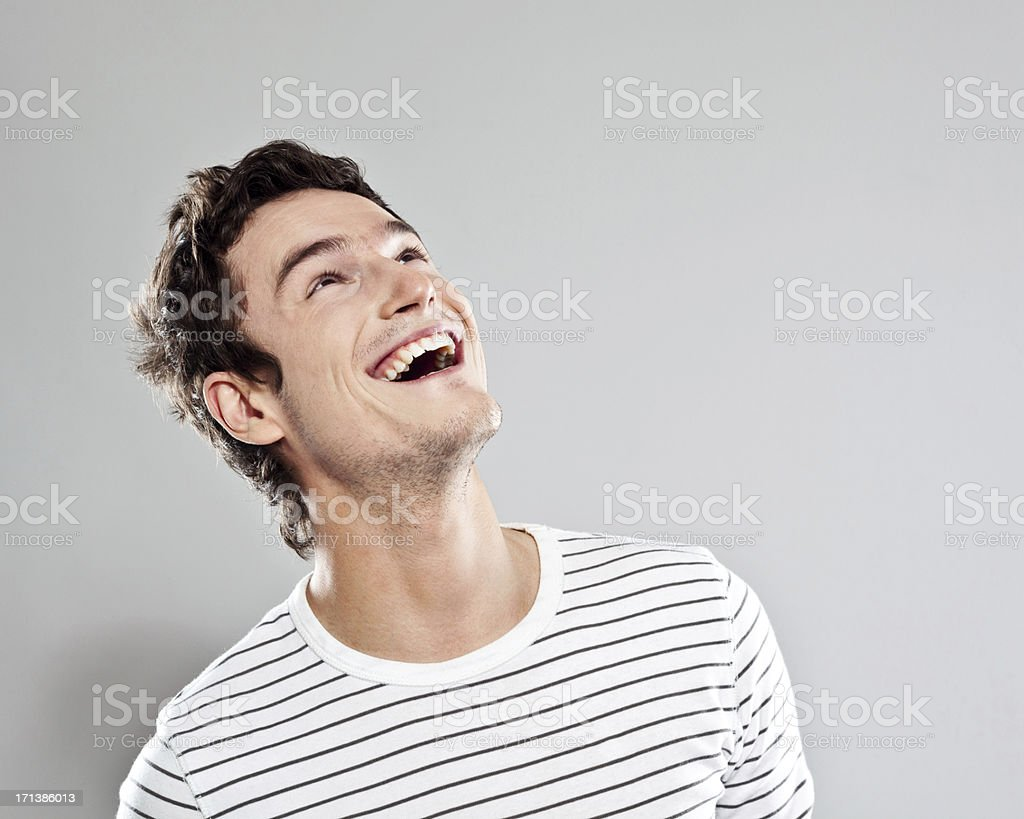 Excited man stock photo