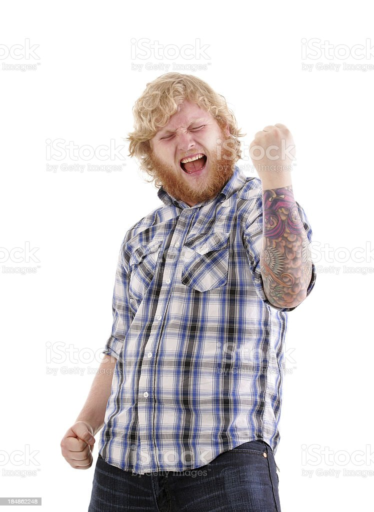 Excited Man royalty-free stock photo