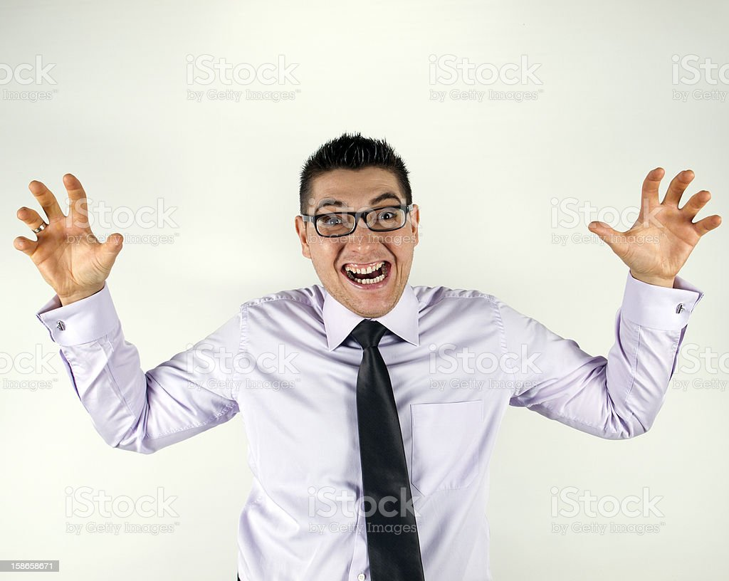 Excited Man With Eye Glasses stock photo