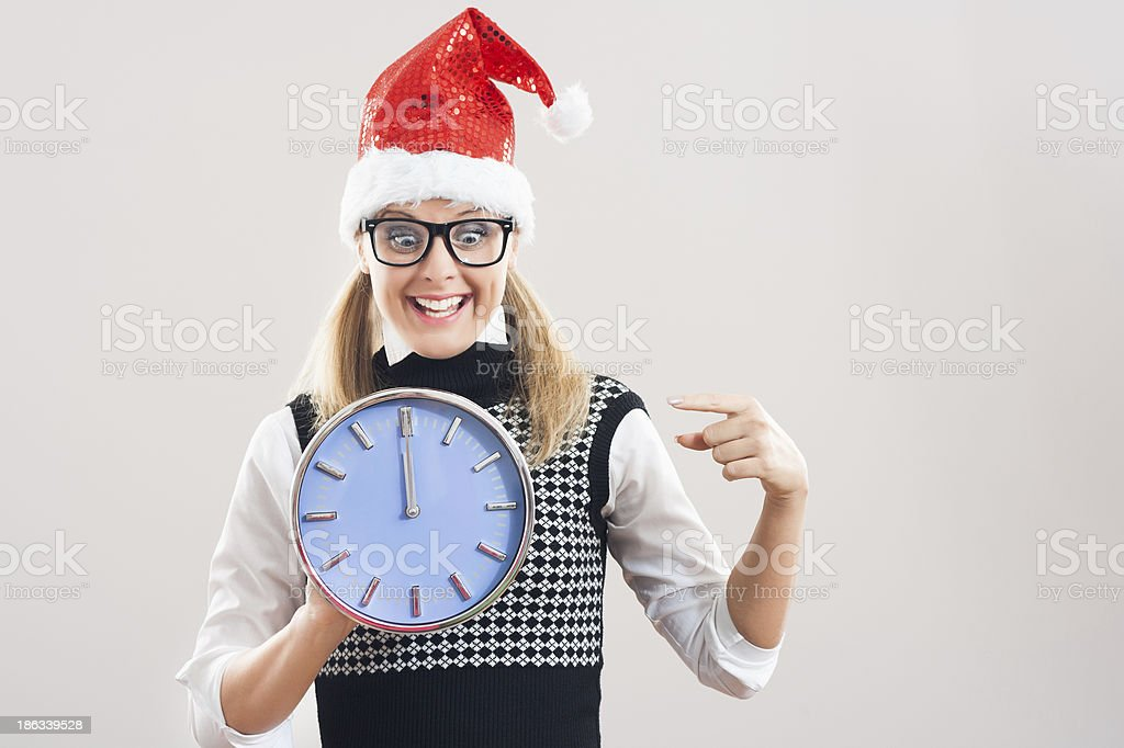 Excited nerdy woman royalty-free stock photo