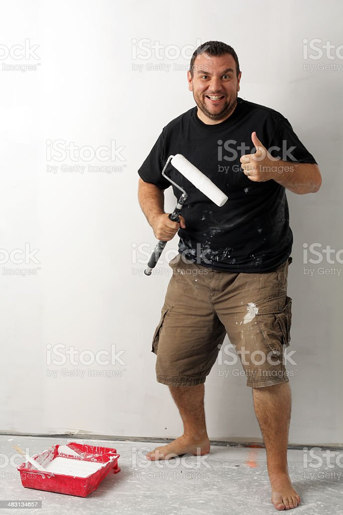 Excited Painter stock photo