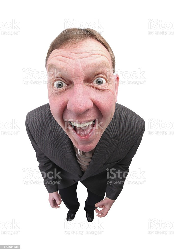 Excited royalty-free stock photo