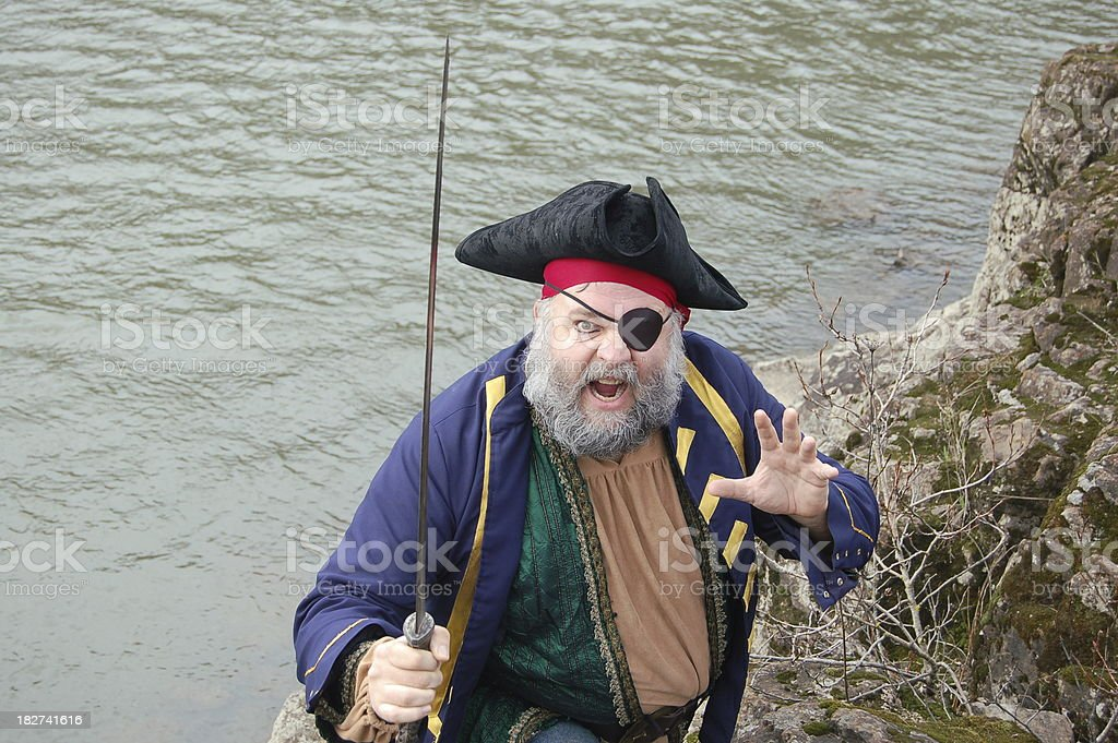 Excited Pirate stock photo