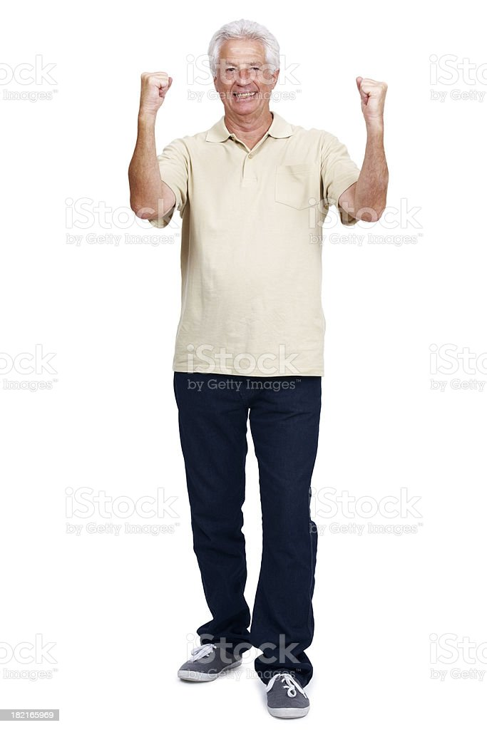 Excited retired man royalty-free stock photo