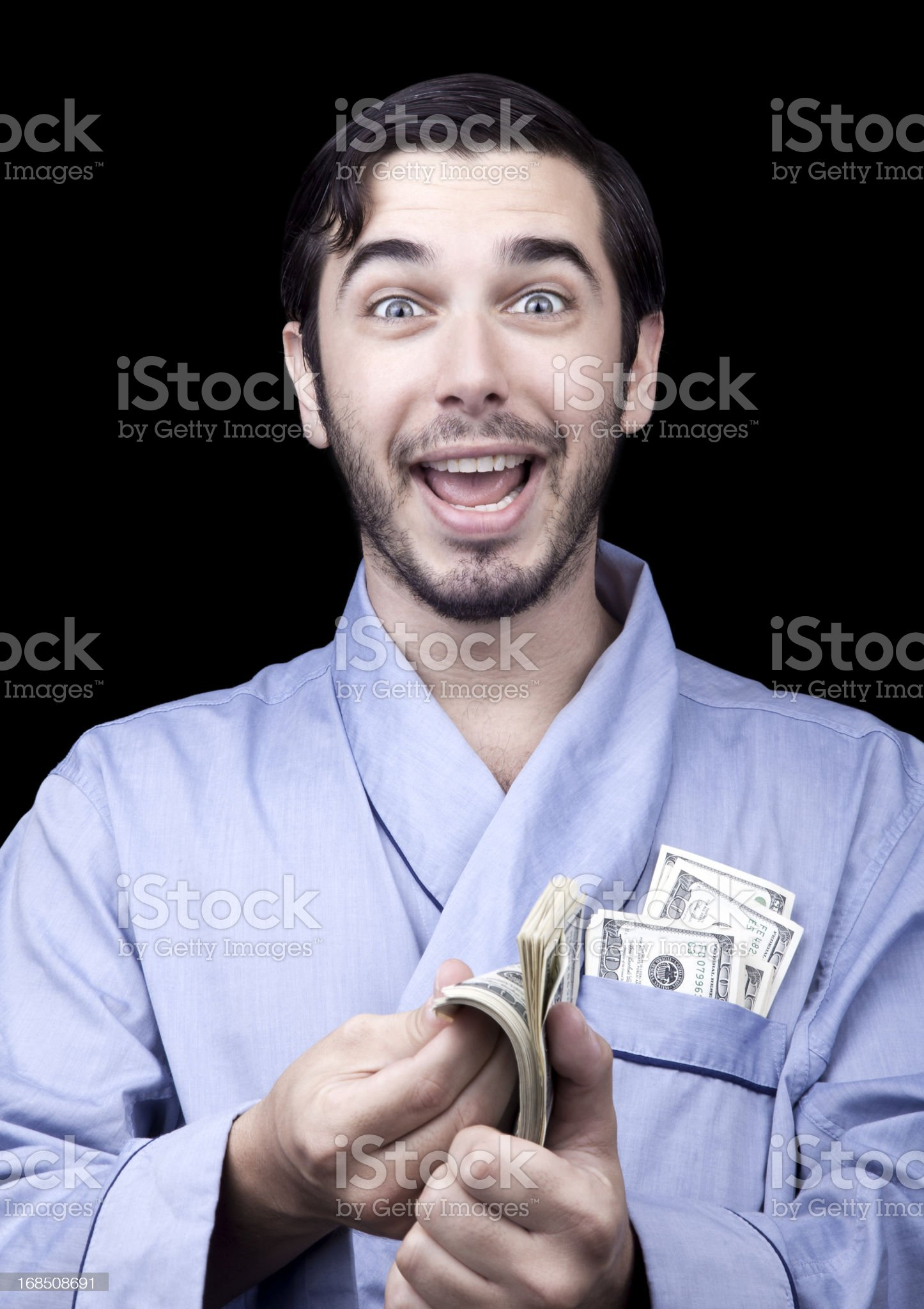 Excited Rich Bum royalty-free stock photo
