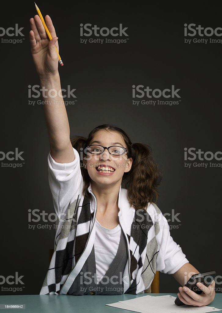 Excited school girl royalty-free stock photo