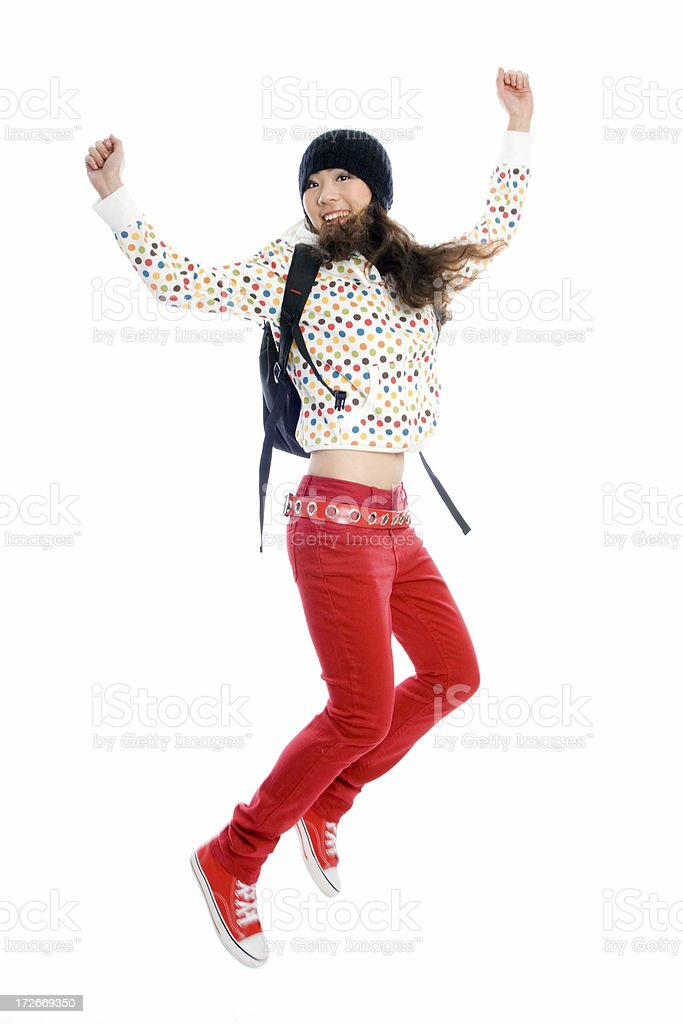 Excited student royalty-free stock photo
