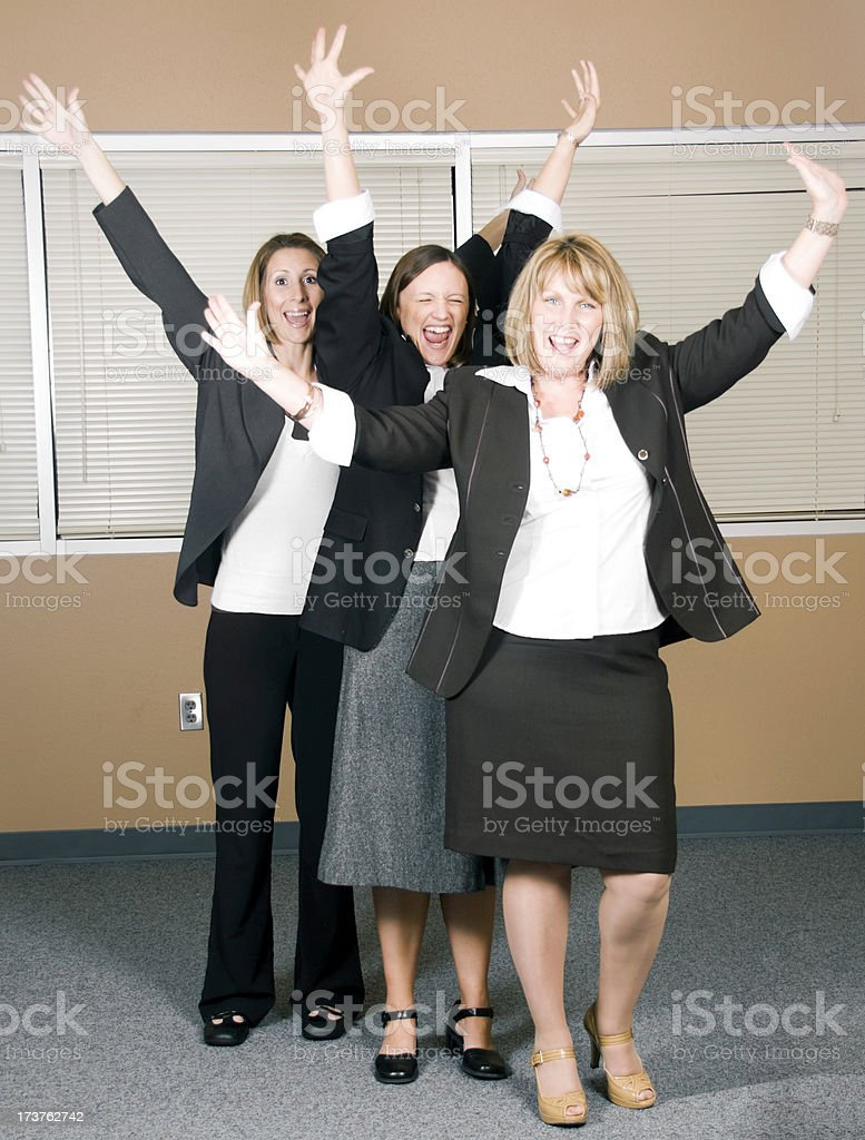 Excited Team royalty-free stock photo