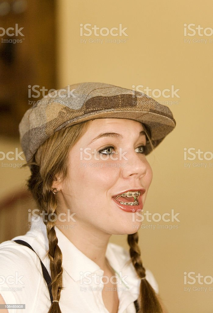 Excited Teen stock photo