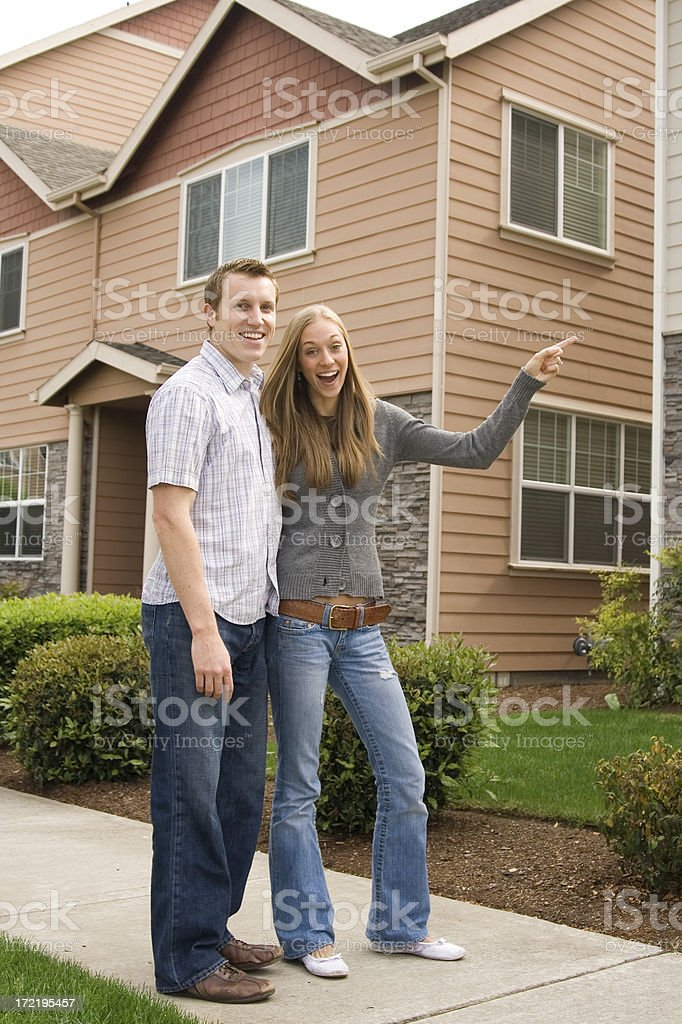 excited to be house shopping royalty-free stock photo