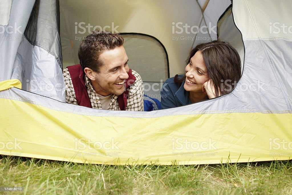 Excited to camp with you! royalty-free stock photo