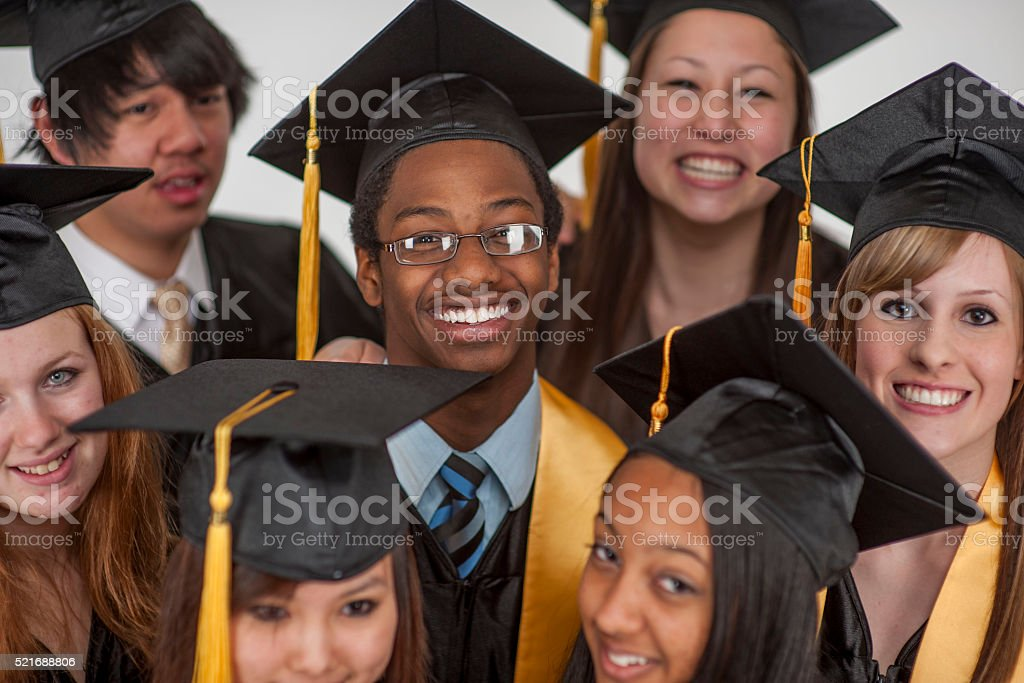 Excited to Graduate stock photo