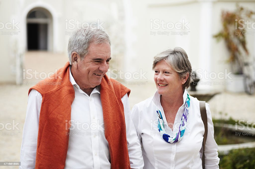 Excited to share this vacation together royalty-free stock photo