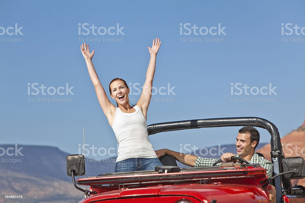 Excited woman expressing herself royalty-free stock photo