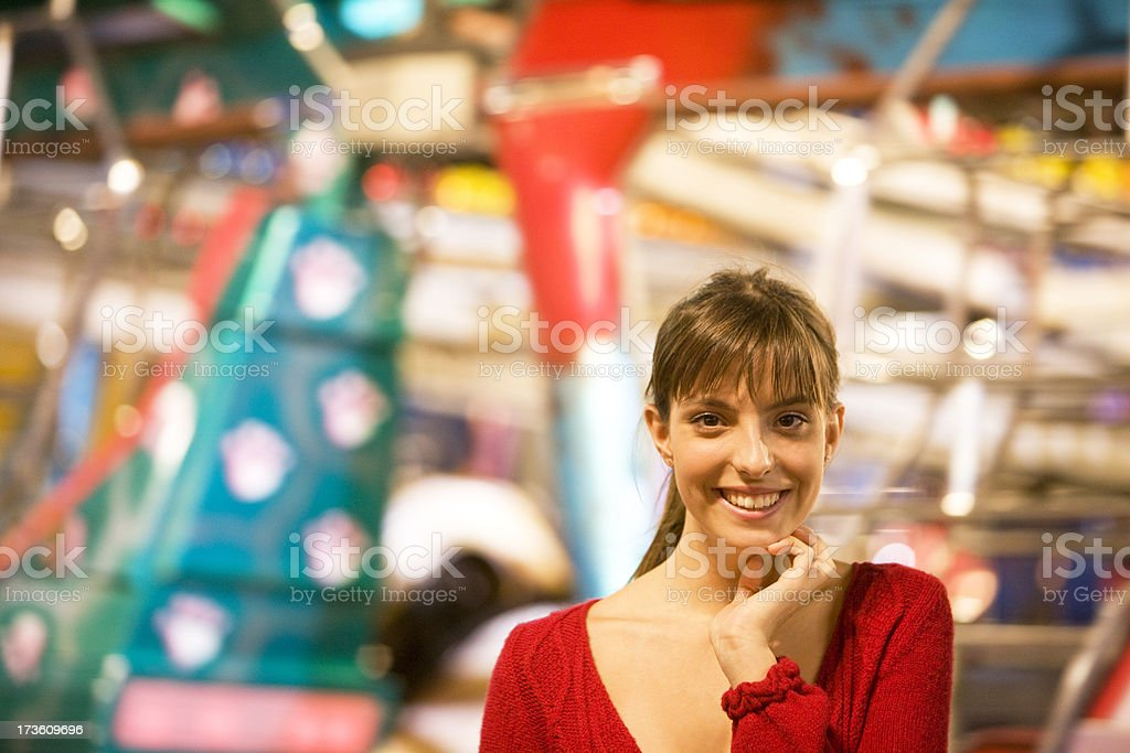 Excited woman royalty-free stock photo