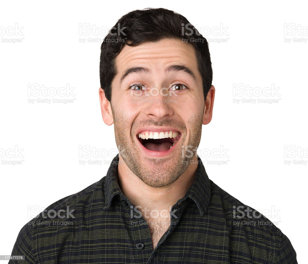 Excited Young Man royalty-free stock photo